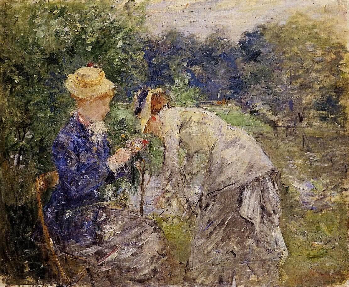 """A Bois de Boulogne-ban"" írta Berthe Morisot"