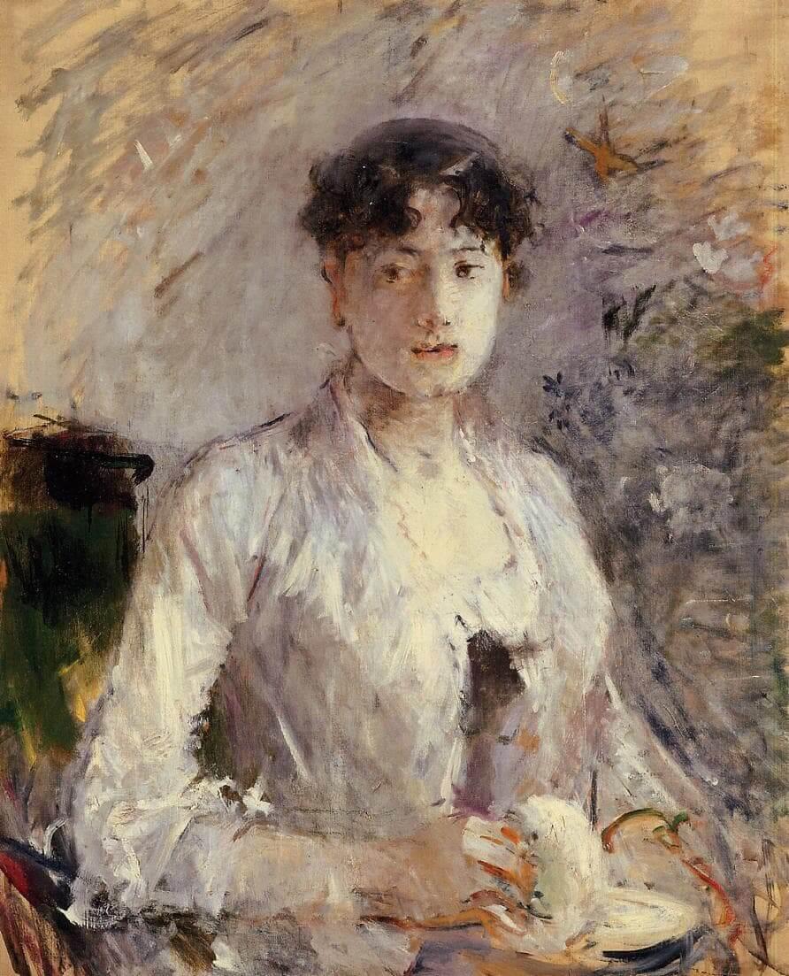 """""""Fiatal nő mályvaszínben"""" írta Berthe Morisot"""